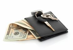 Wallet And Keys Stock Photography