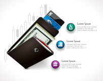 Wallet as home budget illustration Royalty Free Stock Images