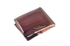 Wallet with baht isolated Stock Image