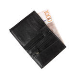 Wallet with banknote 1000 Royalty Free Stock Photos
