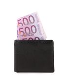 Wallet with banknotes Royalty Free Stock Photos