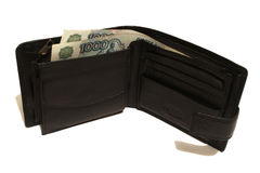 Wallet with banknotes Russia Stock Image