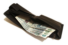 Wallet with banknotes Russia Stock Images