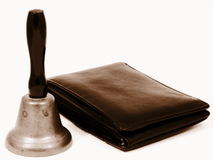 Wallet and Bell Stock Images