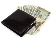 Wallet with bills two Stock Photography