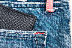 Wallet on blue jean pocket Royalty Free Stock Photography