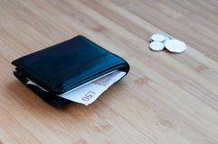 Wallet with british money Stock Photo