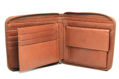 Wallet. Brown leather wallet Stock Images