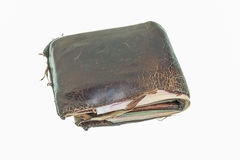 Wallet brown leather Stock Photo
