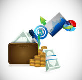 Wallet business concept illustration design Royalty Free Stock Image