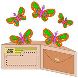 Wallet butterflies Stock Photography