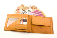 Wallet & calculator Royalty Free Stock Image