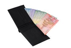 Wallet with Canadian dollars Stock Image