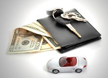 Wallet and car Royalty Free Stock Photos