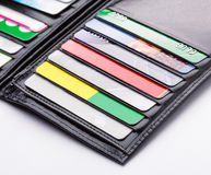 Wallet with cards Stock Photos