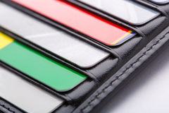 Wallet with cards Royalty Free Stock Image