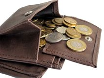 Wallet with cash Stock Image