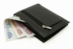 Wallet with cash Stock Photo