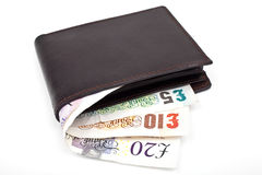 Wallet and Cash Stock Image