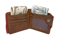 Wallet with cash Royalty Free Stock Images