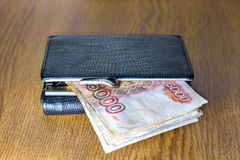 Wallet and cash Stock Photography
