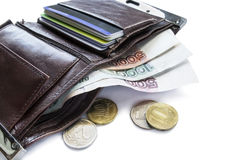 Wallet with cash Royalty Free Stock Photography
