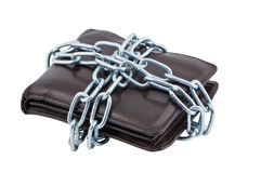 Wallet in chains isolated. Stock Photography