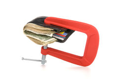 Wallet clamped shut Royalty Free Stock Photo