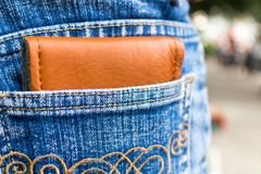 wallet in cloth jeans Stock Photography