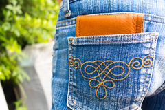 wallet in cloth jeans Royalty Free Stock Photo