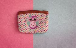Wallet on the colorful background royalty free stock photos