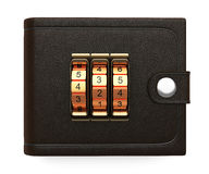 Wallet with combination lock Royalty Free Stock Image