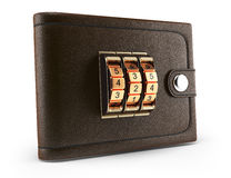Wallet with combination lock Royalty Free Stock Photos