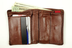Wallet containing money Royalty Free Stock Photography