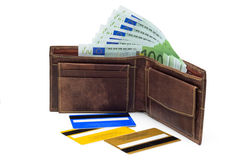 Wallet contents Royalty Free Stock Photography