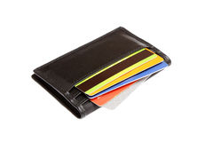 Wallet cradit cards Stock Image