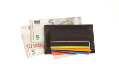 Wallet cradit cards euro Royalty Free Stock Image