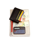 Wallet cradit cards euro Royalty Free Stock Images