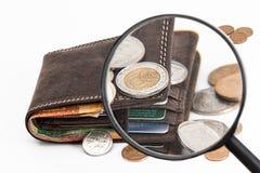 Wallet, Credit Card, Cash Royalty Free Stock Photos