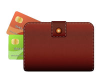 Wallet and credit card Stock Photography