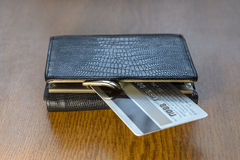Wallet and credit card Royalty Free Stock Photography