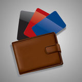 wallet with credit cards Stock Images