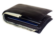 Wallet with credit cards and cash Royalty Free Stock Photography