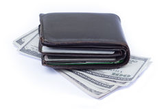 Wallet with credit cards and cash Royalty Free Stock Image