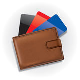 Wallet with credit cards Royalty Free Stock Photo