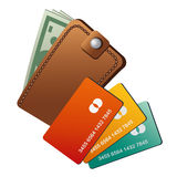 Wallet and credit cards Stock Photo
