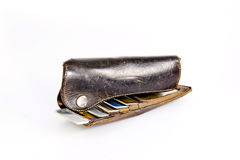 Wallet with creit card Stock Photography