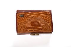 Wallet crocodile skin Stock Photos