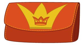 Wallet with crown emblem Royalty Free Stock Image
