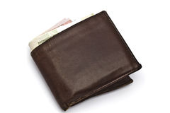 Wallet and currency Royalty Free Stock Photo